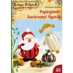 Papírgömb karácsonyi figurák