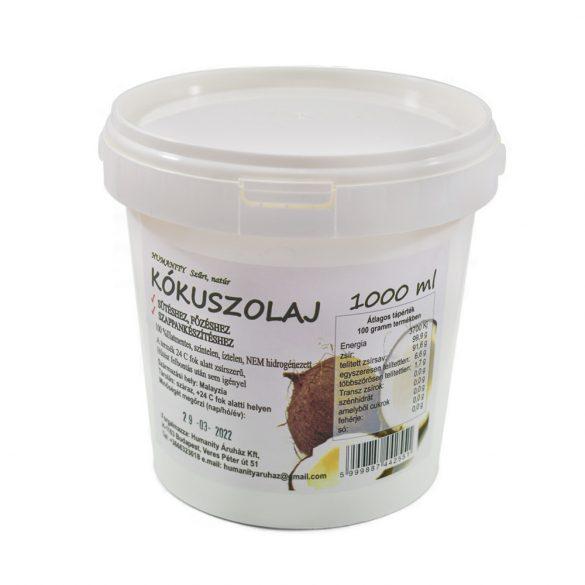 Kókuszolaj -  vödrös 1000 ml