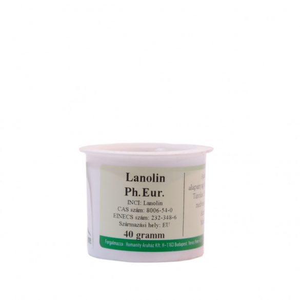 Lanolin - peszticidmentes, BHT mentes, Ph.Eur - 40 gramm