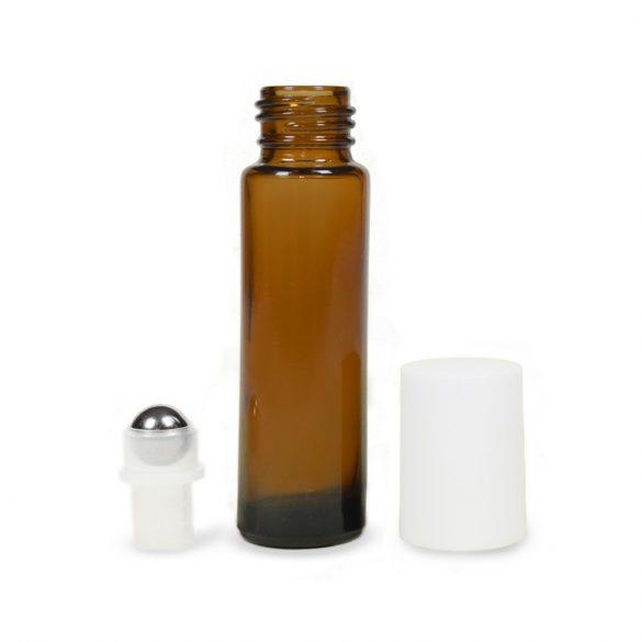 Mini golyós üveg 10 ml fehér kupakkal