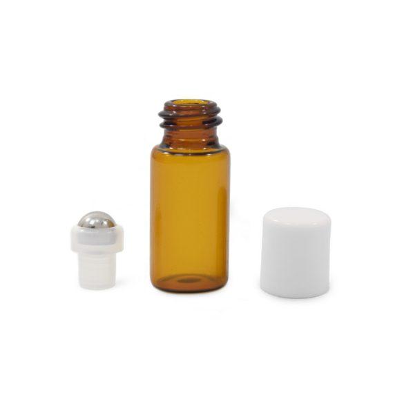 Mini golyós üveg 3 ml fehér kupakkal