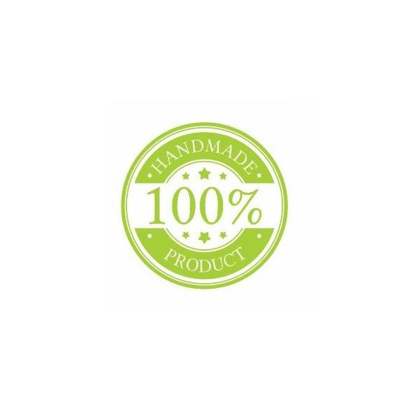 Körcímke - handmade product zöld - 20 db/cs