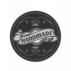 Körcímke - Handmade fekete - 20 db/cs