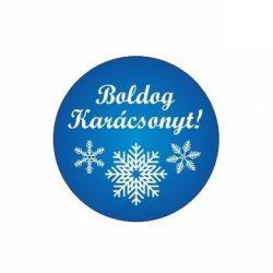 Karácsonyi körcímke - Boldog karácsonyt - 20 db/cs