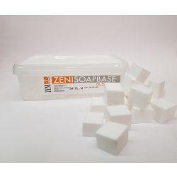 Zeni fehér márványos  szappanalap - SLS-mentes - 1 kg