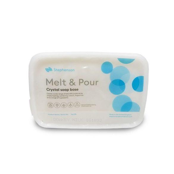 Melt & Pour szamártejes szappanalap - 1 kg