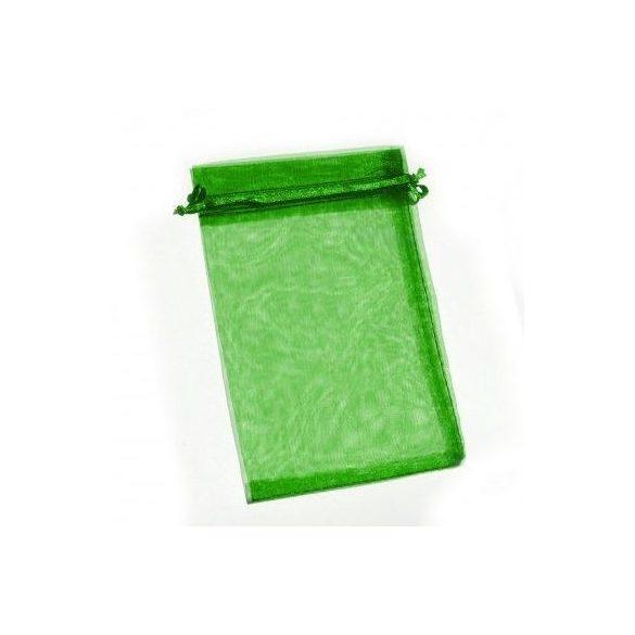 Organza tasak 9x12 - smaragzöld - 10 db/cs