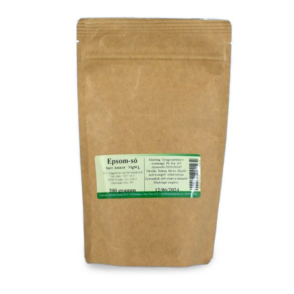 Keserűsó -  Epsom só