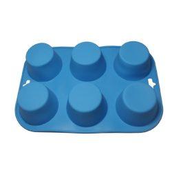 Basic - szilikon forma - 6 részes (kék)