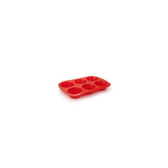 Basic - szilikon forma - 6 részes (piros)