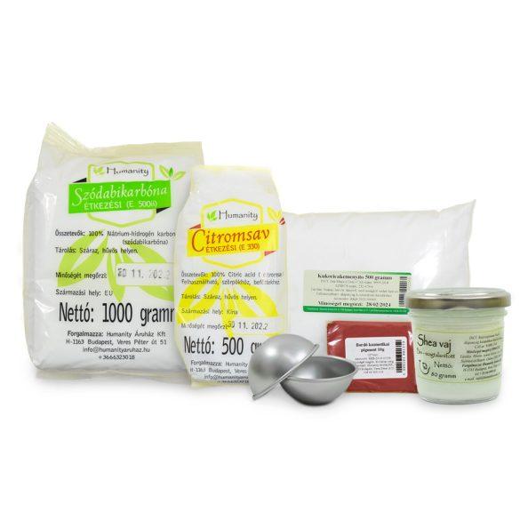Fürdőbomba készítő csomag formával (profi)