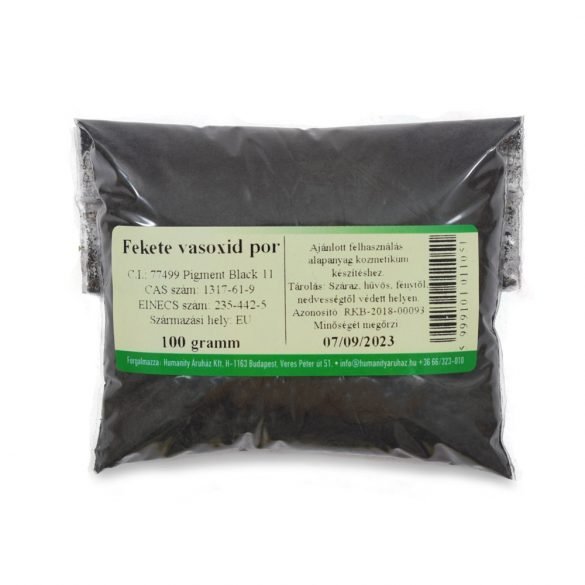 Fekete vasoxid por 100 gramm